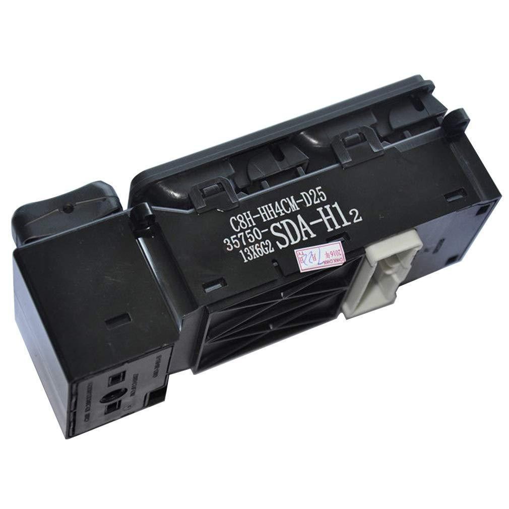 Reemplazar OE # 35750-SDA-H12 35750-SDA-H07 35750-SDA-H75 35750-SDA-A02 Yh-eu Interruptor del elevalunas principal delantero izquierdo del lado del conductor for 2003-2007 Honda Accord Sedan