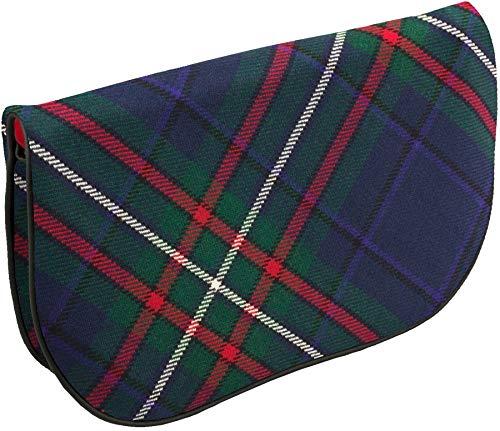 Tartan Large And Back Scottish Clutch Bag Pocket With Leather Inside Heritage OxYOU7
