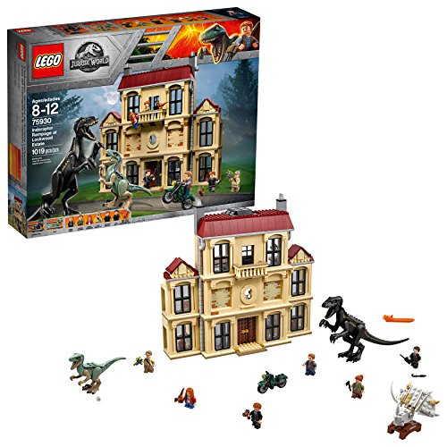 LEGO Jurassic World Indoraptor Rampage at Lockwood Estate 75930 Popular Building Kit, Best Fallen Kingdom Indoraptor Dinosaur Toy (1019 Pieces) from LEGO