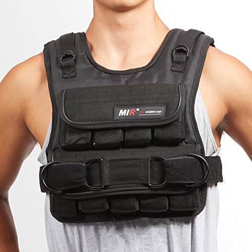 MIR 30LBS SLIM ADJUSTABLE WEIGHTED VEST