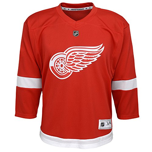 8 Youth Small Outerstuff NHL NHL Detroit Red Wings Youth Boys Quick Net Performance Short Sleeve Tee Red