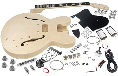 Solo ES Style DIY Guitar Kit, Maple Body, Semi Hollow Body, ESK-35 (Maple Body Kit)