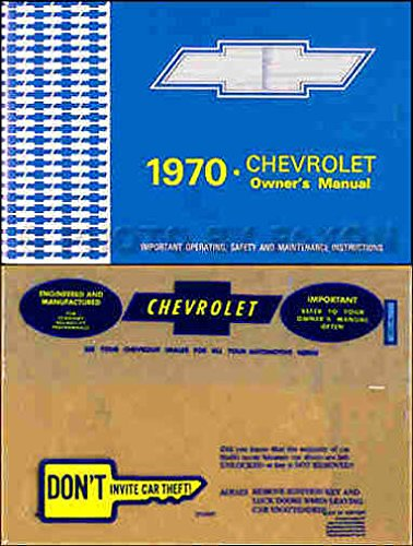STEP-BY-STEP 1970 CHEVROLET FULL-SIZE CARS OWNERS INSTRUCTION & OPERATING MANUAL + ENVELOPE For Biscayne, Bel Air, Impala, Caprice, SS Super Sport, convertible, (does NOT cover wagons) PDF