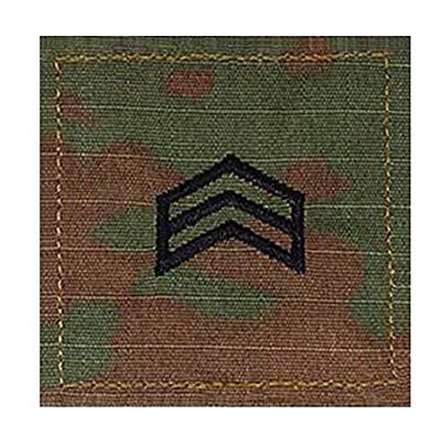 (Army SGT ROTC Cadet Rank OCP Scorpion with HOOK Fastener-SERGEANT)