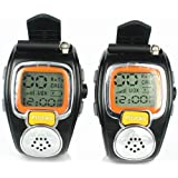 Protable Backlit Pair LCD Two Way Radio Intercom Digital Walkie Talkie Travel Watch Wrist Watch Dual-Band interphone Transceiver