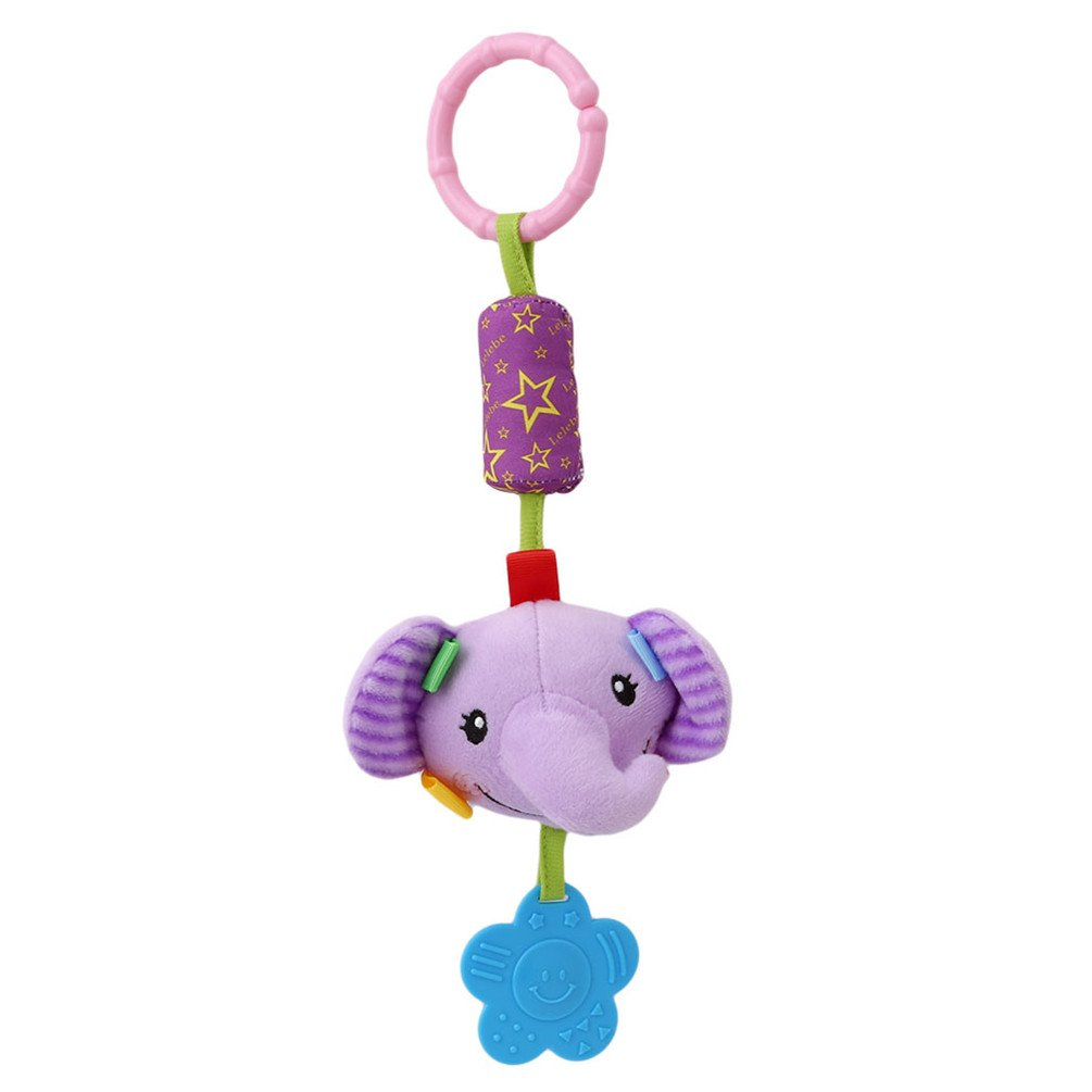Lalang Clip on Pram Toys Baby Pushchair Windbell Toys (elephant) 88_Store