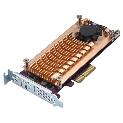 QNAP QM2-2P-244A Dual M.2 22110/2280 Pcie SSD Expansion Card (PCIe Gen2 X4), Low-Profile Bracket Pre-Loaded, Low-Profile Flat and Full-Height are Bundled