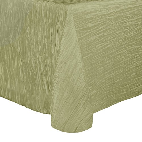 Ultimate Textile (2 Pack) Crinkle Taffeta - Delano 90 x 132 Inch Rectangular Tablecloth - for Party, Wedding, Home Dining, Hotel and Catering use, Willow (W Hotel Halloween Event)