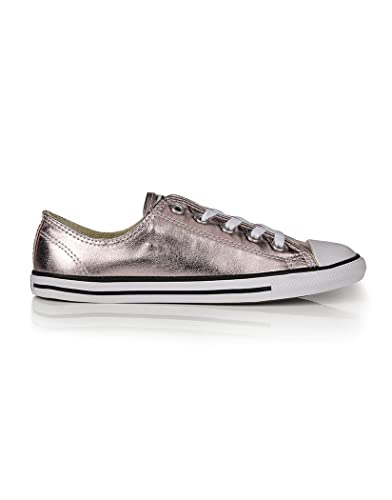 Pink Converse Women s Chuck Taylor All Star Dainty Sneakers - Rose  Quartz Black White - Size   4  Amazon.co.uk  Shoes   Bags e5faf6ec5