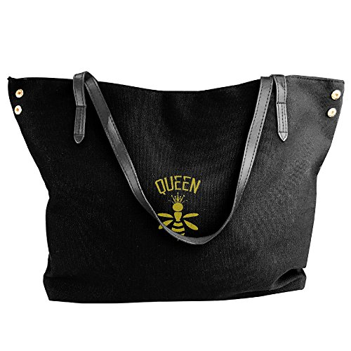 Large Handbags Women Handbags Bags Bags Black Black Capacity Shoulder Bee Fashion Canvas Hobo Tote zTBwBqx5