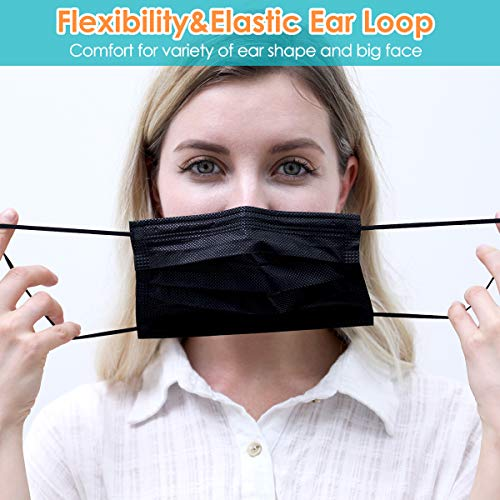 Disposable Face Masks, Pack of fifty Black Face Masks