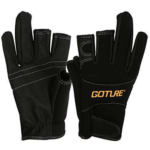 Goture Anti slip fishing gloves