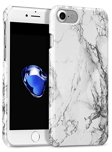 best service 2a937 7aa9c GMYLE iPhone 7 Case, iPhone 8 Case, [White Marble] Hard Slim ...