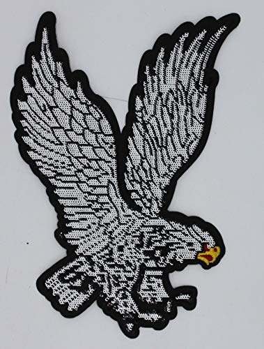 White Eagle: Sequin Patch