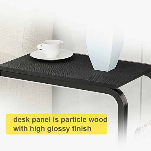 soges Side Table Moving Unite Laptop Desk Small Computer Table with Caster, Black KH02-BK by soges (Image #3)