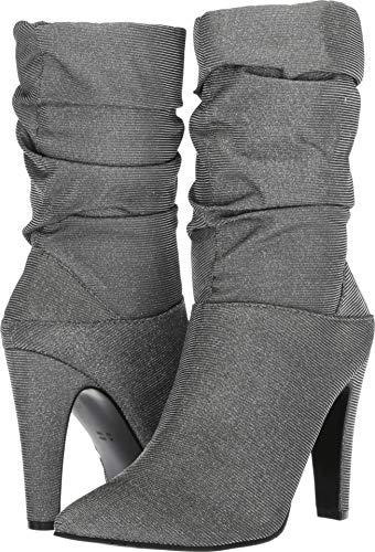 Nina Heels Metallic (NINA Women's Darla Mid Calf Boot, Black, 6.5 M US)