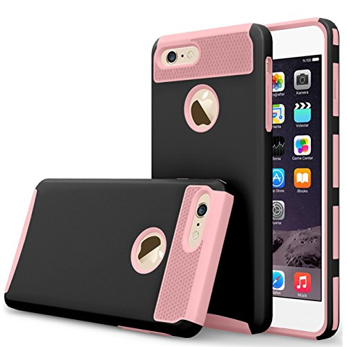 iBarbe iPhone 7 plus Case,iPhone 8 plus Case, Slim Fit Shell Rubber Hard Plastic Full Protective Anti-Scratch Resistant Cover Case for iPhone 7 plus (2016) / iPhone 8 plus (2017) - Scratches Glass Fixing