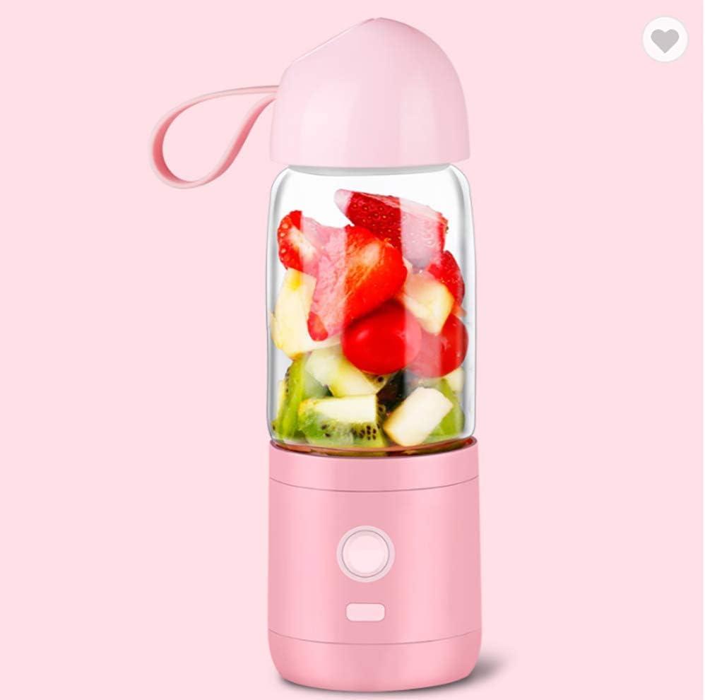 Picadora Electrica de Alimentos, Carga USB Máquina para Hacer Puré Smoothie Sopa y Zumo con 7.4V 240W de Potencia, 4,000mAh, Copa de Vidrio de Borosilicato de 550 ml,Pink: Amazon.es: Hogar