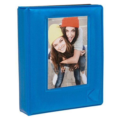 "KODAK 2x3 Photo Album – 64-Pocket Mini Photo Album w/ Transparent Window Cover for 2""x3"" ZINK Zero Ink Photo Paper – Perfect for KODAK Printomatic, Mini Shot & Mini 2 Instant Cameras – Blue by Kodak"