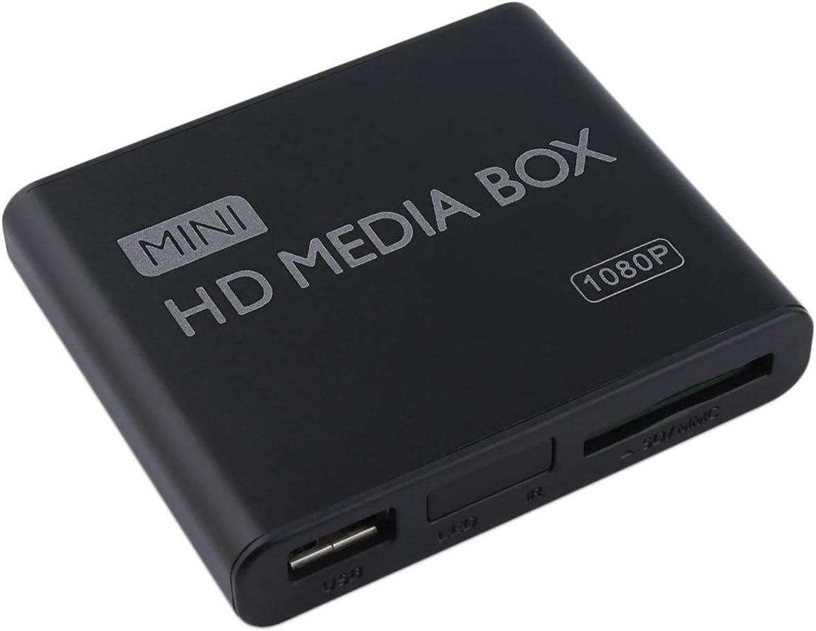 Mini Caja de Reproductor Multimedia HD Full 1080p MPEG / MKV / H.264 HDMI AV USB + Soporte Remoto MKV / RM-SD / USB / SDHC / MMC HDD-HDMI (Negro) (Togames): Amazon.es: Electrónica