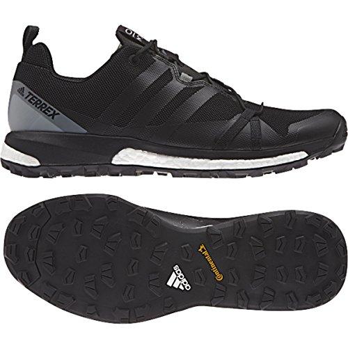 Black Bike Shoes Adidas (adidas Terrex Agravic Speed Shoe Men's Trail Running 10.5 Black-Bright Yellow)