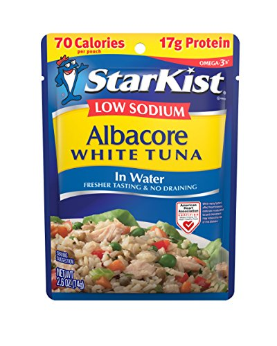 StarKist Low Sodium White Albacore Tuna in Water, 2.6 Ounce (Pack of 24)