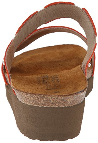 EU Sandal M Ashley 5 6 37 NAOT US Leather 6 Wedge Orange Women P0fw1xRt