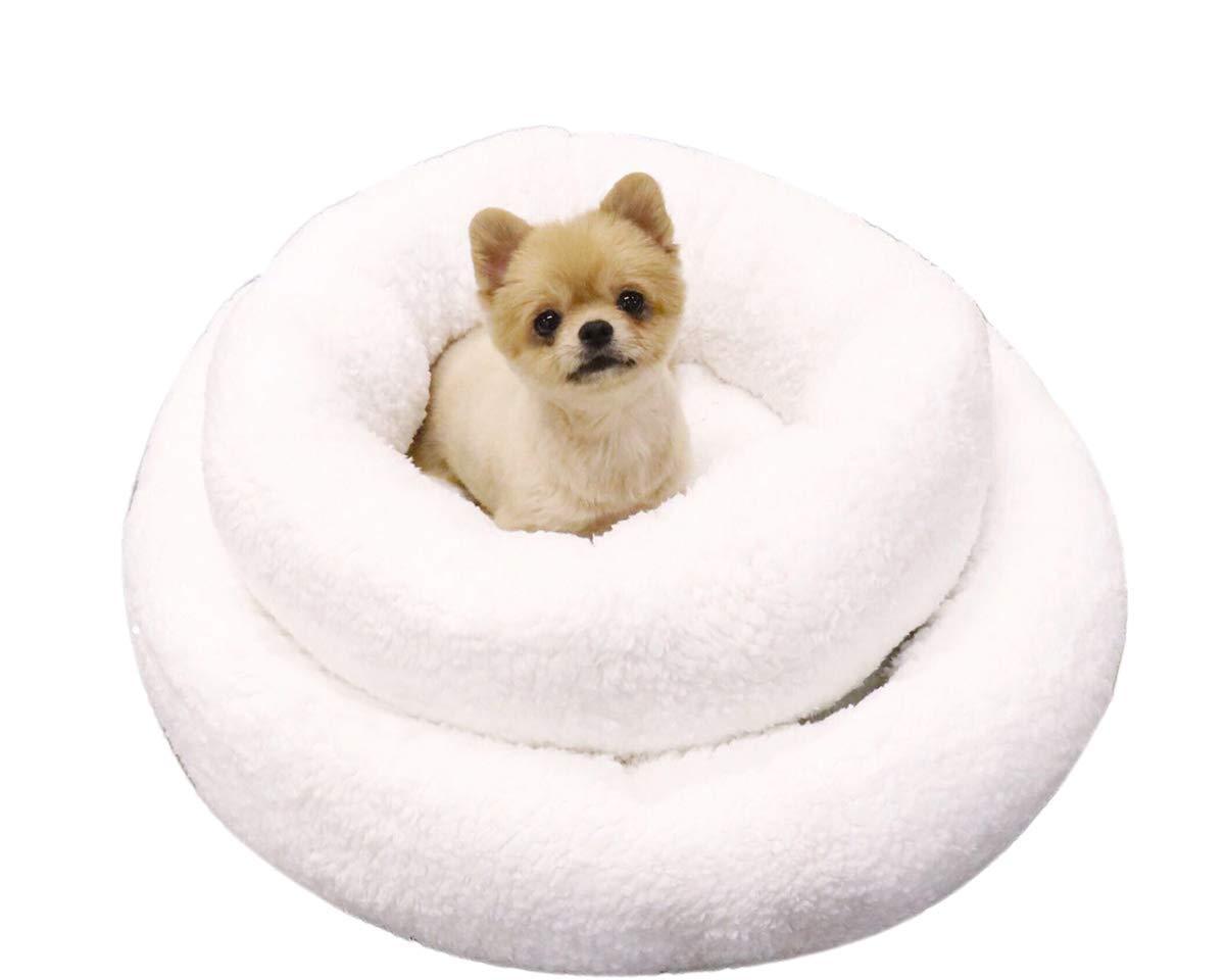 Cuccia Calda e alla Moda Grigio Cuscini per Gatti Rimovibile Lavabile indistruttibile Gatto//Cane Letto 70 cm di Diametro Novopus:Letto per Cani Gatti di Lana