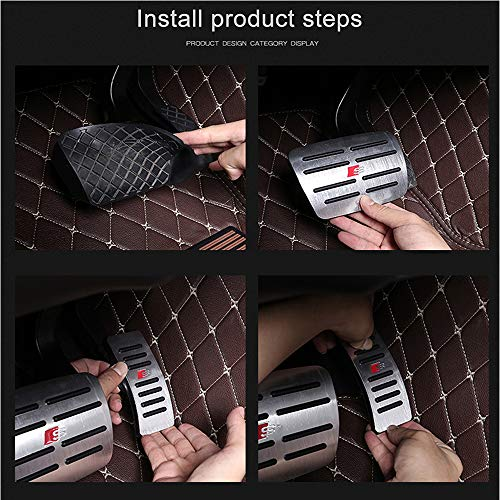 Moonlinks Compatible with Audi 2010-1015 Q7 Gas Brake Pedal Anti-Slip Aluminium Alloy Gas and Brake Pedal Covers (for Q7) by Moonlinks (Image #6)