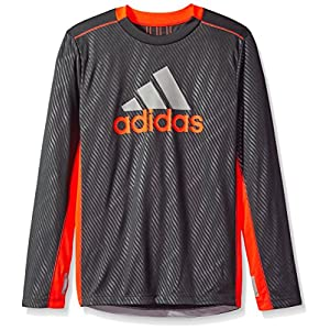 adidas Boys' Performance Logo Long Sleeve Tee Shirt
