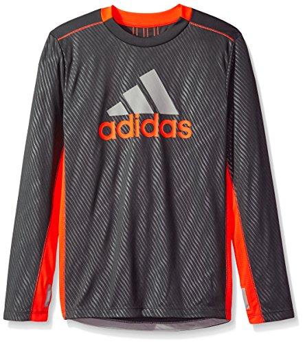 adidas Boys Performance Logo Long Sleeve Tee Shirt