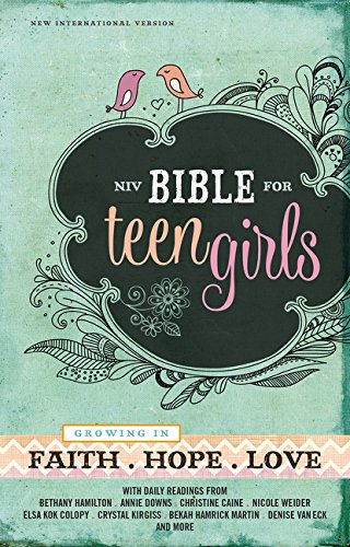 NIV, Bible for Teen Girls, Hardcover: Growing in Faith, Hope, and Love (Best Bible For Teens)