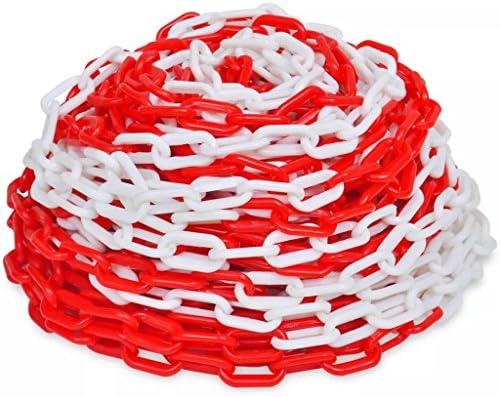 N/O Viel Spaß beim Einkaufen mit 30 m Kunststoff Absperrkette rot-weiß
