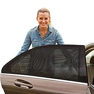 ShadeSox Universal Fit Car Side Window Baby Sun Shade (2 Pack) | Protects Your Baby and Older Kids from The Sun, Fits All (99%) Cars! Small Size Might not fit SUV's