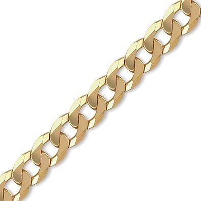 9ct Gold Traditional Heavyweight Curb Chain Bracelet 9 inch XcGcAU
