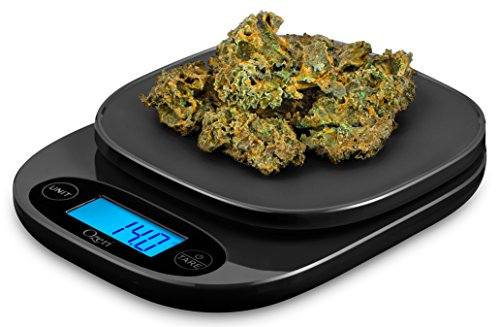 Ozeri ZK420 Garden and Kitchen Scale, with 0.5 g (0.01 oz) Precision Weighing Technology, in Black