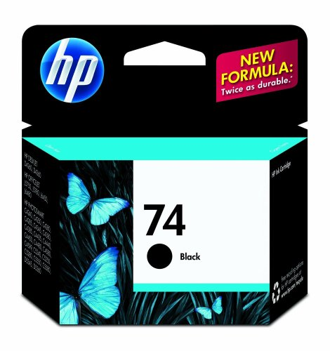 HP 74 Black Original Ink Cartridge (CB335WN) for HP Deskjet D4260 HP Officejet J5788 J6480 HP Photosmart C4342 C4344 C4382 C4384 C4435 C4440 C4524 C4540 C4550 C5540 C5550