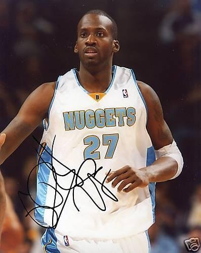 Autographed Johan Petro Photo - Denver Nuggets 8x10 - Autographed NBA Photos ()