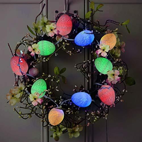 Homeleo Easter Egg LED String Light 3.5ft with 10 Eggs Ornament Battery Powered Colorful Light Up Eggs for Easter Decoration Garden Spring Decoration [並行輸入品] B07R9PPDDX