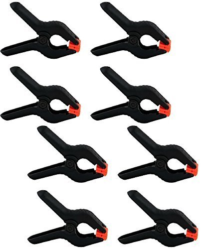 CanadianStudio Studio Large 8 pcs 4 inch backdrop paper muslin clamps for Photography background reflector 8xclamps