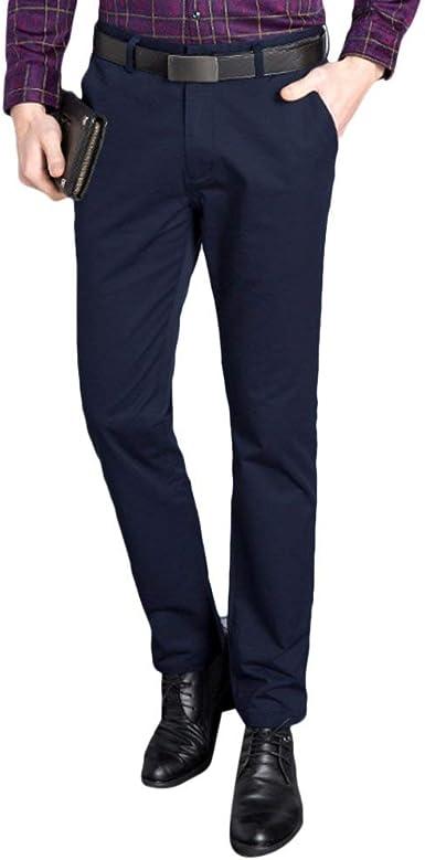 Crystallly Pantalones De Los Estiramiento Fit Hombres Slim Pantalones Pantalones De Estilo Simple Vestir Rectos Delgados Suaves Pantalones De Traje Del Juego Pantalones Amazon Es Ropa Y Accesorios