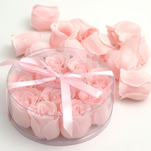 Rose Soap Set (Scented Rose Soaps (set of 12) - Pink)