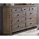 Progressive Furniture Willow Drawer Dresser, Weathered Gray