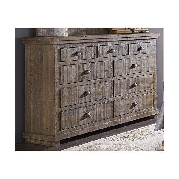 Progressive Furniture Willow Drawer Dresser, Weathered Gray