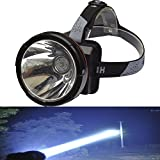 Odear Super Bright Headlamp Rechargeable LED Spotlight with Battery Powered Headlight for Hunting Camping Fishing (Large)