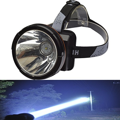 Odear Super Bright Headlamp Rechargeable LED Spotlight with Battery Powered Headlight for Hunting Camping Fishing (Large) (Best Headlamp For Hunting)