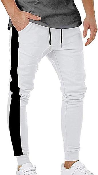 Huateng Pantalones de chándal para Hombre Skinny Sports ...