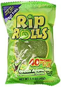 Sour Rips Roll Green Apple Flavor (24 count)