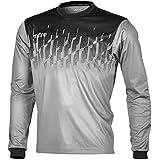 Mitre Kid's Command Goalkeeper Football Match Day Shirt, Silver/Black, Small