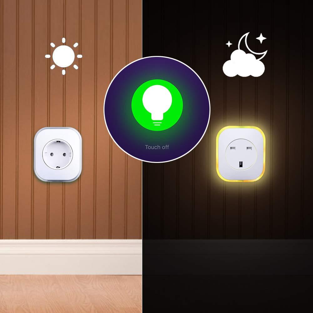 Smart Steckdose, ARINO Smart Home Steckdose WiFi Plug mit USB-Port und Lampe mit Farbwechsel, Fernbedienbar von überall und App-fähig, Kompatibel mit Alexa und Google Home (1er Pack)